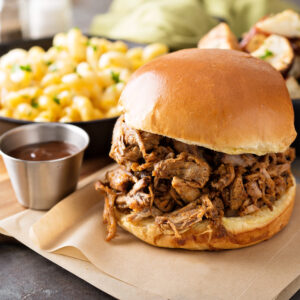 KIDS PULLED CHICKEN PLATTER OR SANDWICH